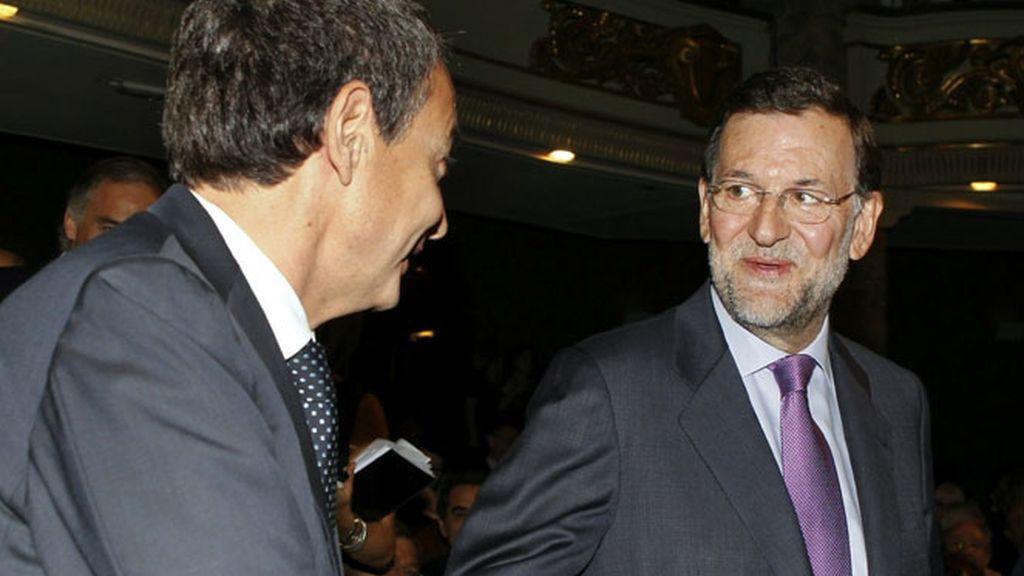 José Luis Rodríguez Zapatero y Mariano Rajoy