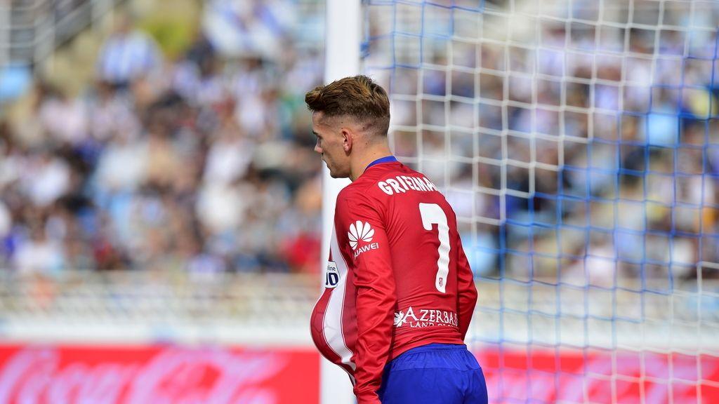 Griezmann celebra gol ante la Real Sociedad