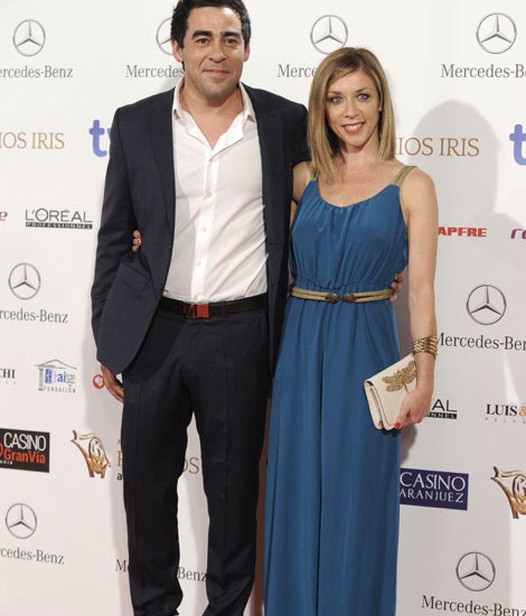 Los actores Pablo Chiapella y Eva Isanta