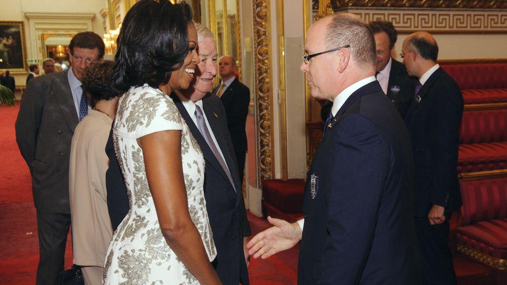 Michelle Obama y el príncipe Alberto de Mónaco