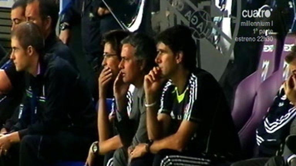 Así grita Mourinho en el banquillo
