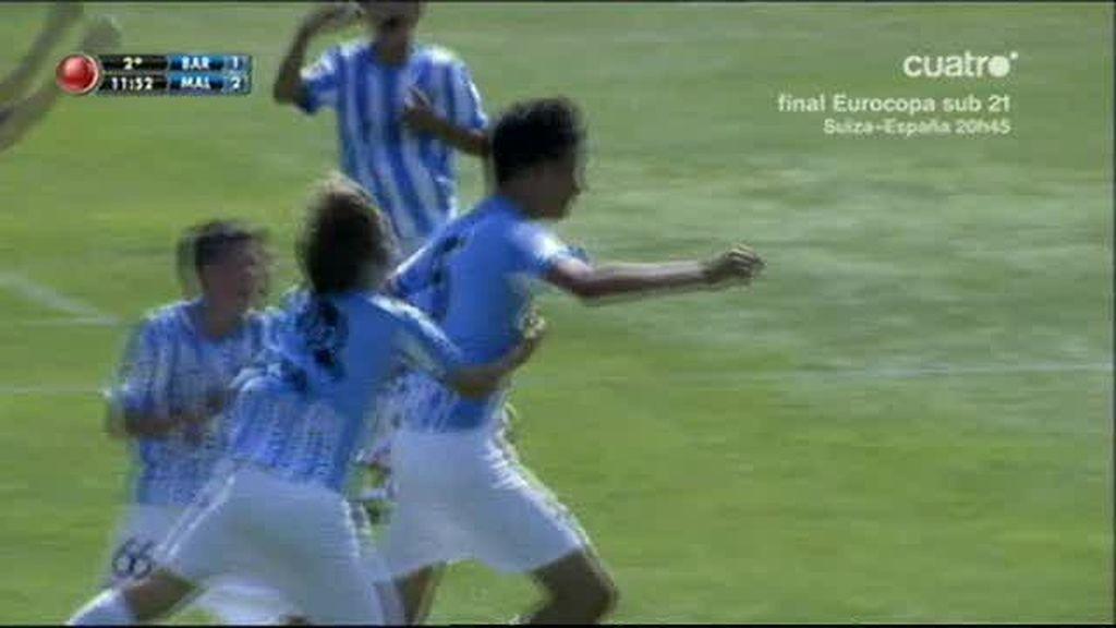 El Málaga da la sorpresa ante el Barça