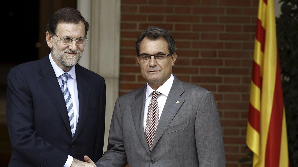 Rajoy recibe a Mas en Moncloa