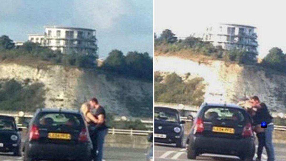 Una pareja pillada practicando sexo en plena calle