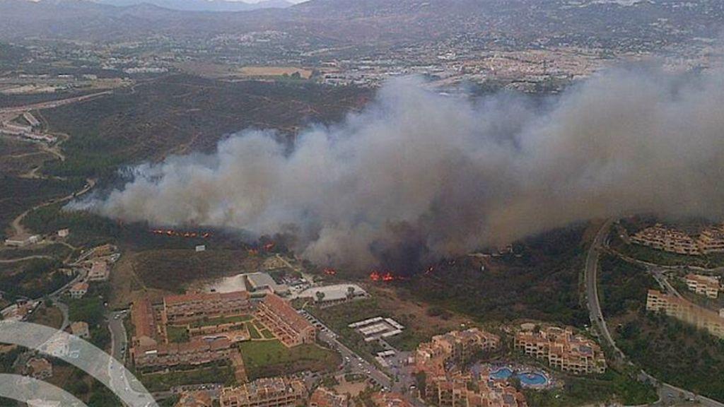 Incendio en Mijas. Foto: Consejería de Medioambiente