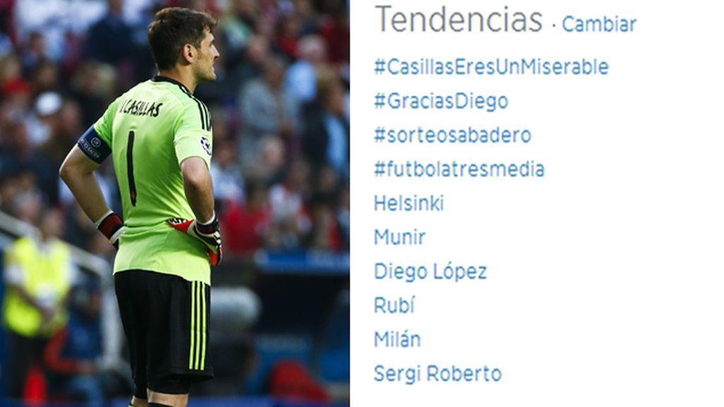 """El hashtag """"Casillas eres un miserable"""" se convierte en trending topic"""