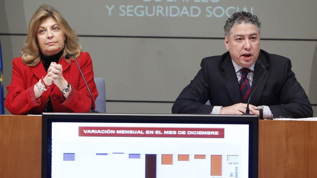 Los secretarios de Estado, de Empleo, Engracia Hidalgo, y de Seguridad Social, Tomás Burgos