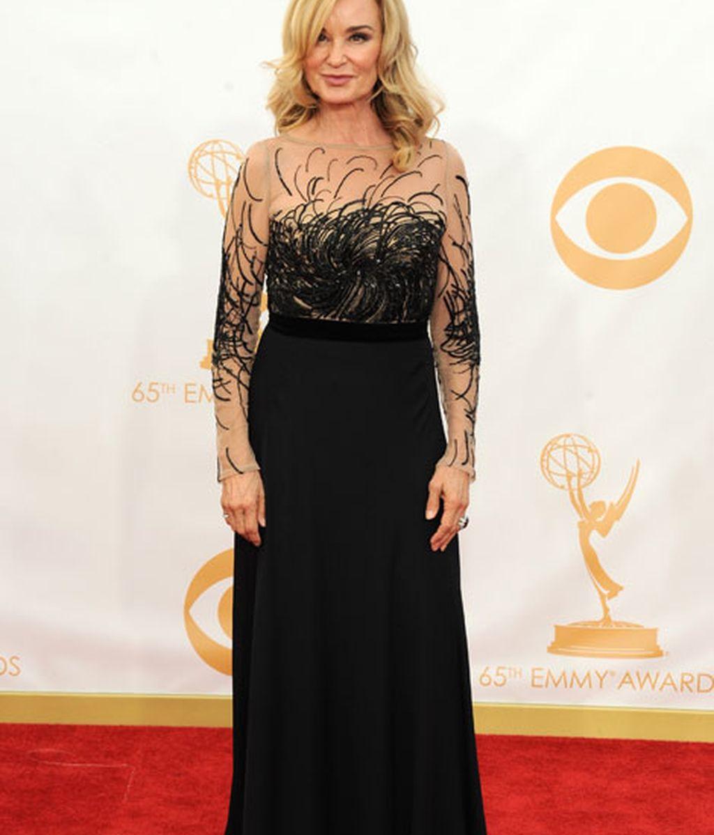 Jessica Lange acudió con un vestido negro