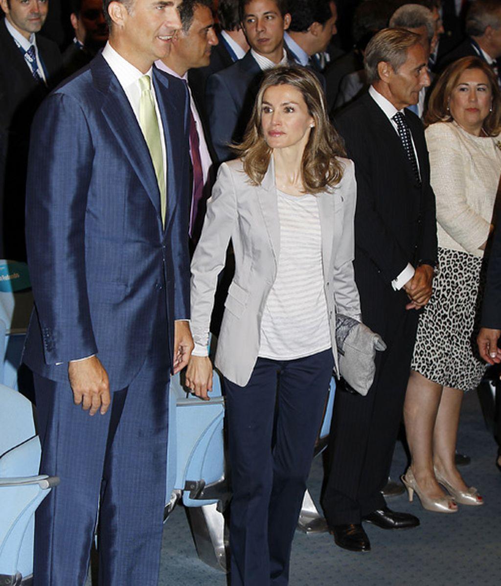 Letizia regresa al zapato plano