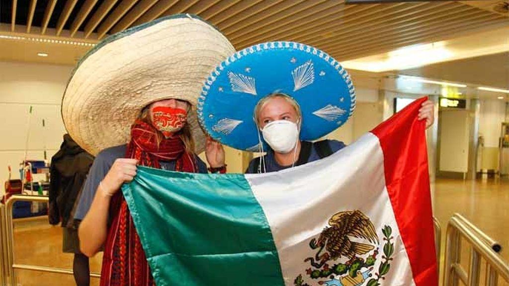 Estudiantes belgas llegan de México
