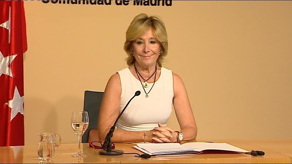 Esperanza Aguirre presenta su dimisión