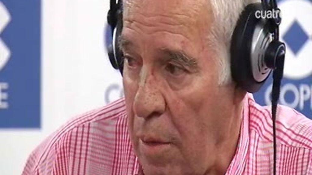 Luis Aragonés se 'moja' en la Cope