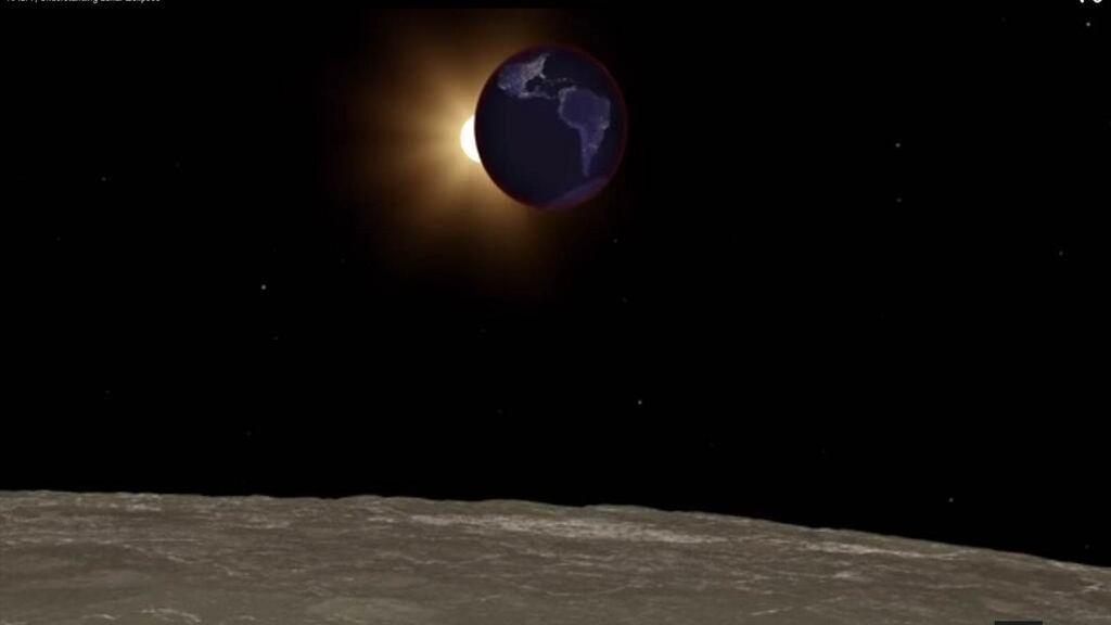 La NASA muestra el eclipse