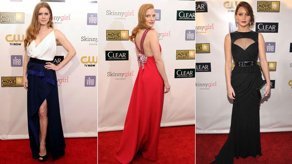 Las nominadas apuestan por los vestidos largos