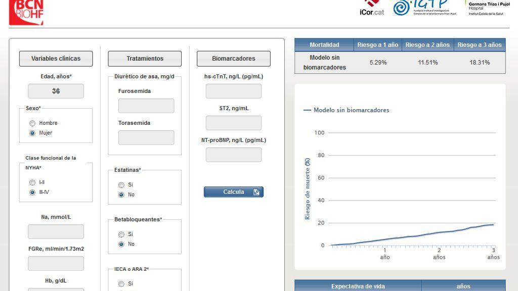 Una 'app' mide la expectativa de vida en pacientes con insuficiencia cardiaca