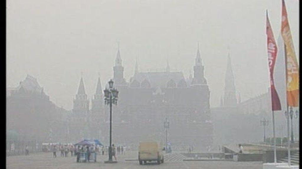 La nube de humo de Moscú