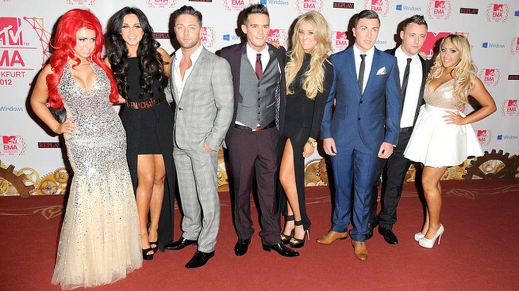 Los protagonistas del reality de MTV Geordie Shore no quisieron perderse los EMA's