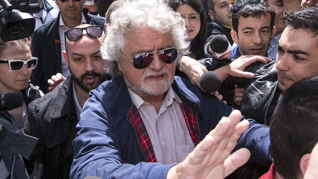 El comediante Beppe Grillo