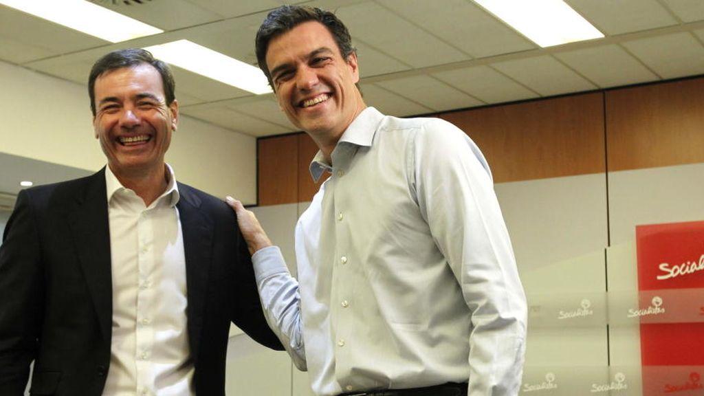 Pedro Sánchez y Tomás Gómez en una imagen de archivo