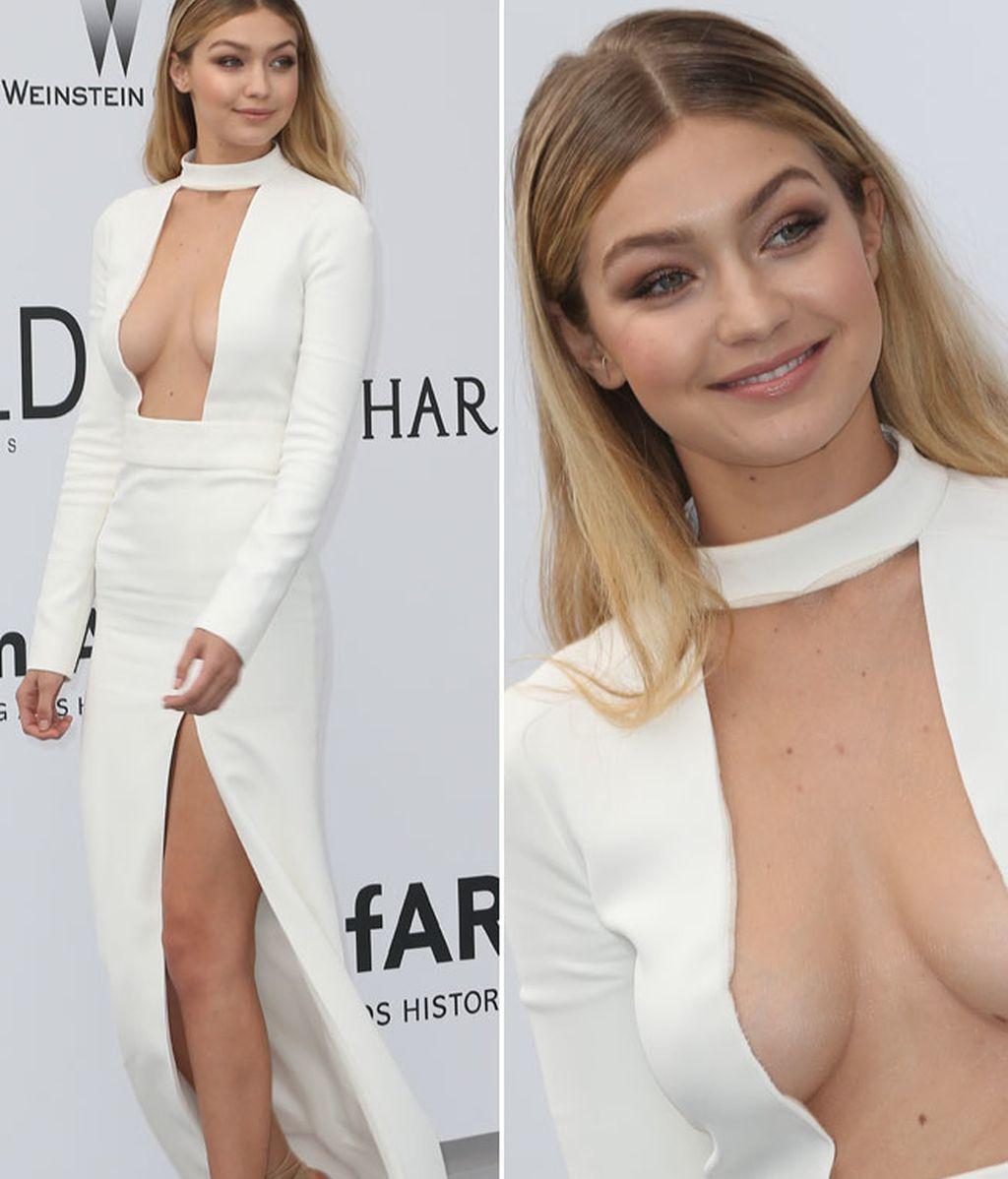 Gigi Hadid destacó con un diseño blanco y muy atrevido de Tom Ford