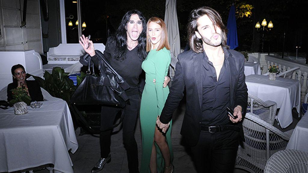 Mario Vaquerizo, Ana Polvorosa y Gabriel Llano