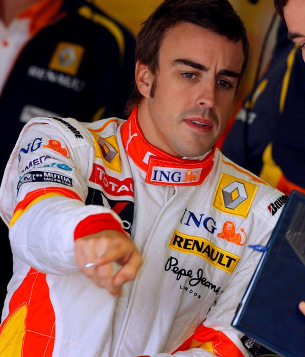 Fernando Alonso en los terceros libres