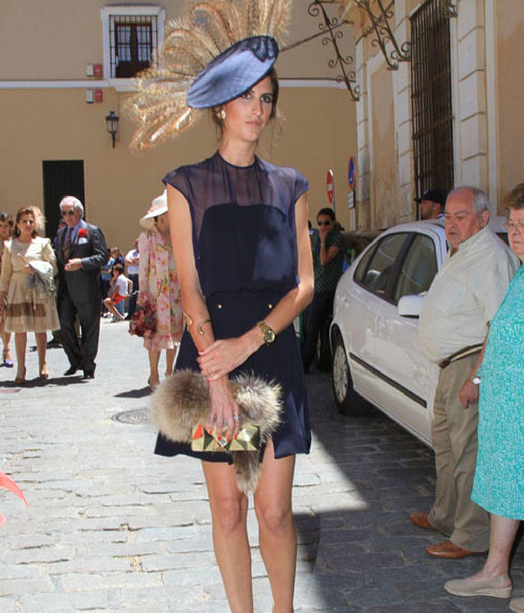 Inés Domecq fue una de las invitadas más elegantes del enlace