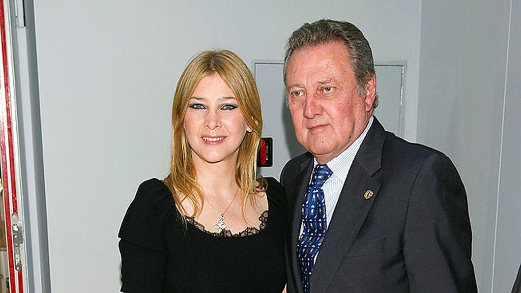 Carlos Larrañaga y su hija Amparo