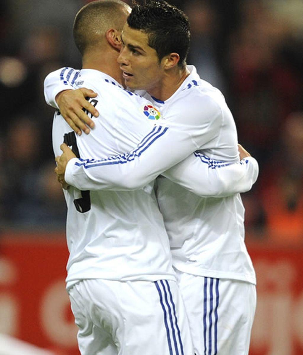 Benzema resurgió en el partido ante el Sporting