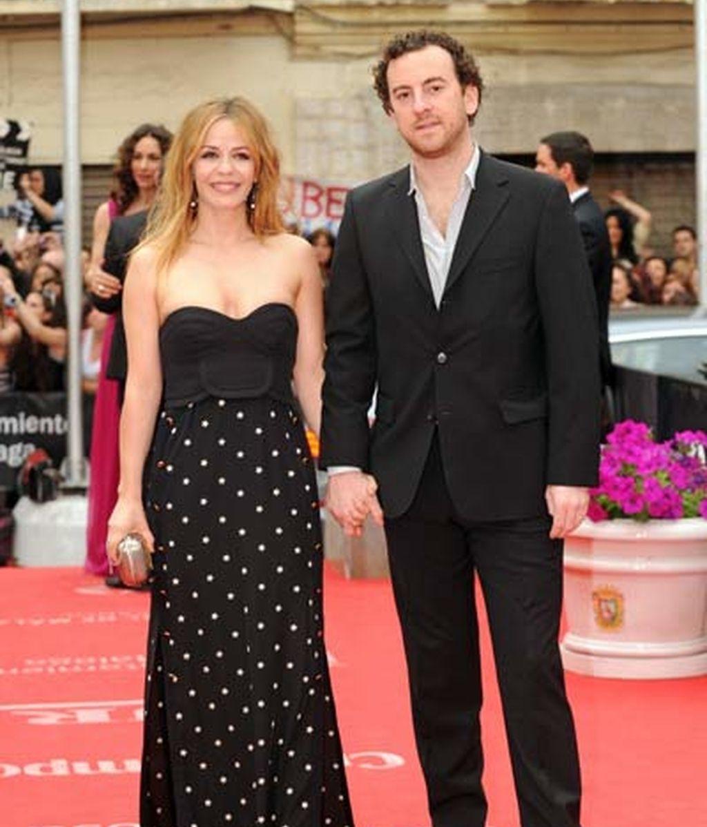 María Adánez y su marido