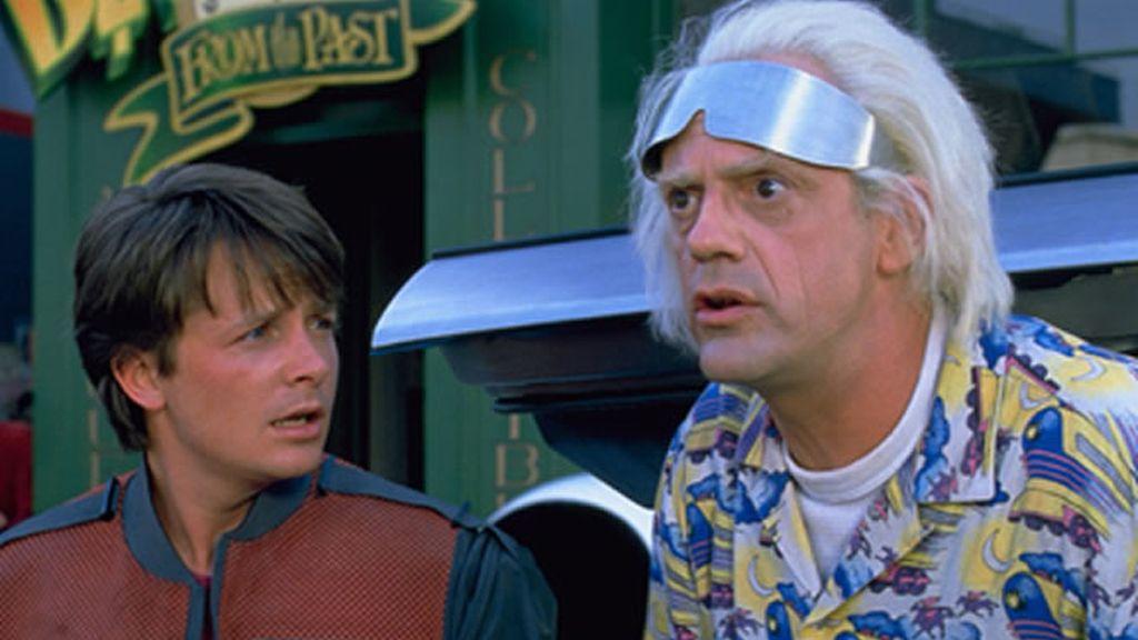 Marty McFly y Doc en regreso al futuro II