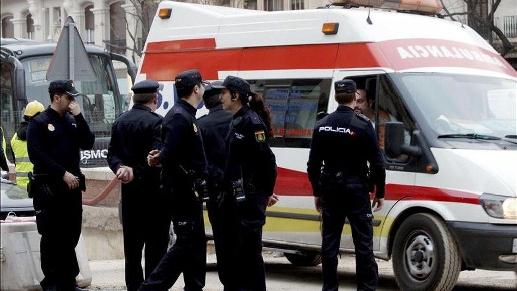 Una ambulancia en Valencia. EFE/Archivo
