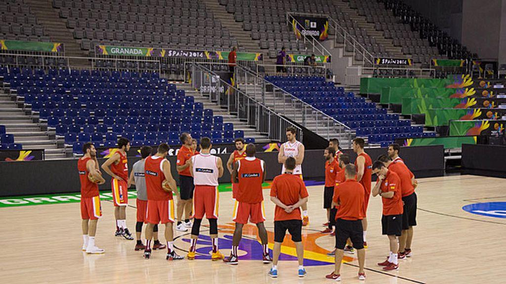 Entrenamiento de España basket