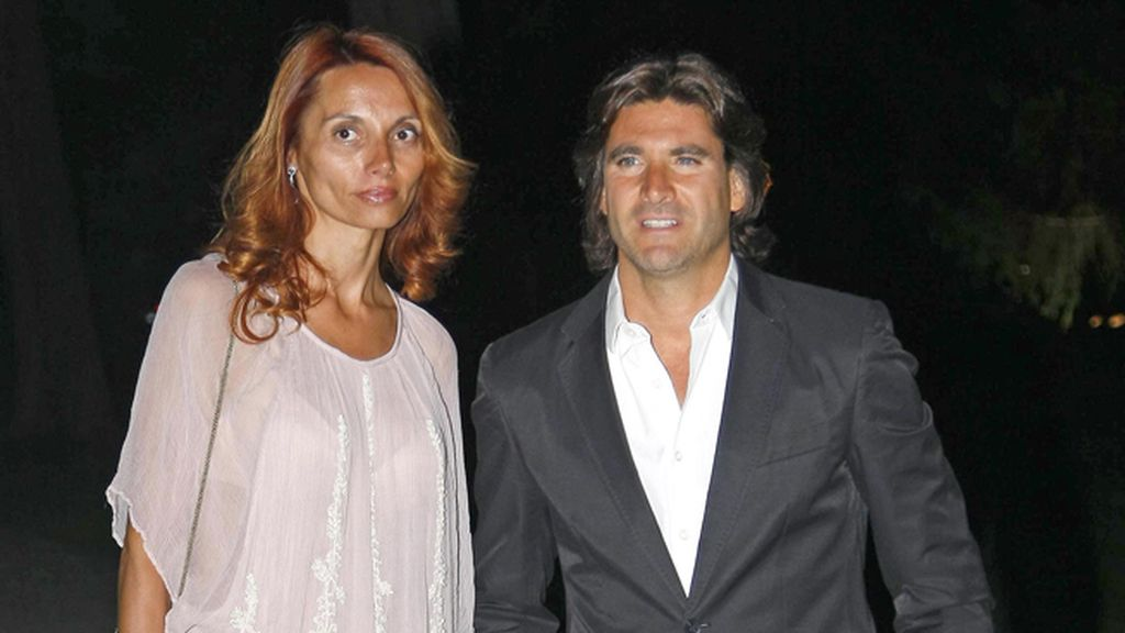 Toño Sanchís y su mujer Lorena Romero