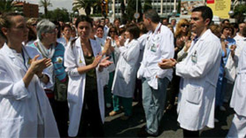 Manifestación de los trabajadores del Hospital Joan XXIII de Tarragona