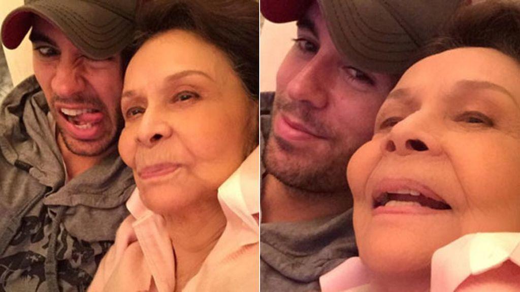 """Enrique Iglesias con su abuela, para él: """"La mejor"""""""
