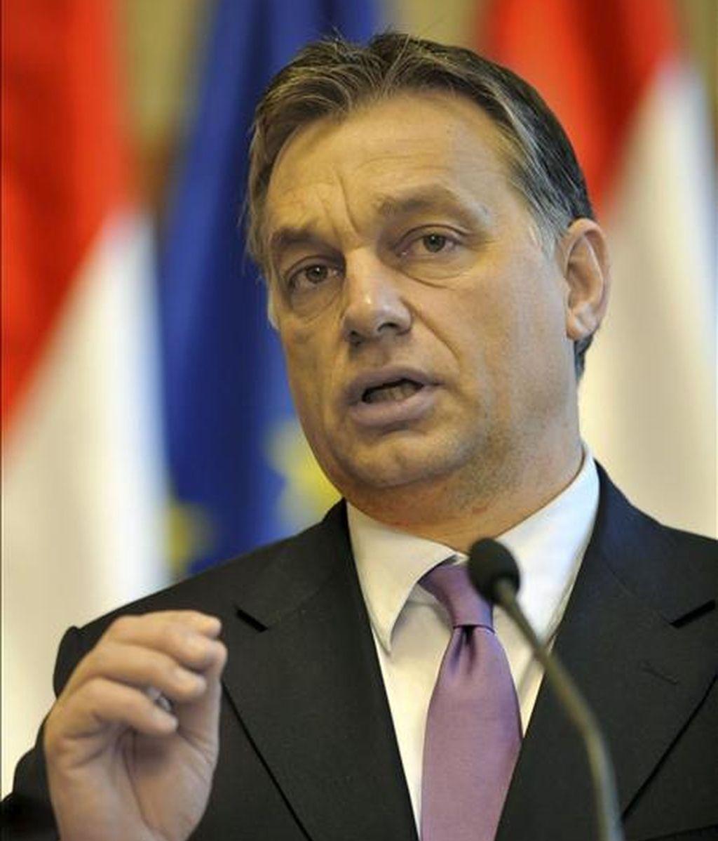 El primer ministro húngaro, Viktor Orban. EFE/Archivo