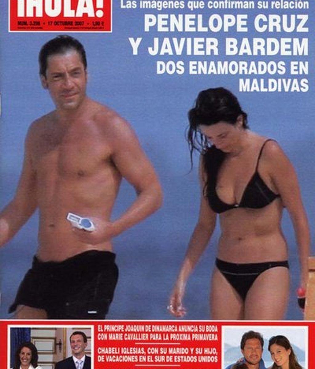 Penélope y Javier: de 'Jamón Jamón' a su boda en Las Bahamas