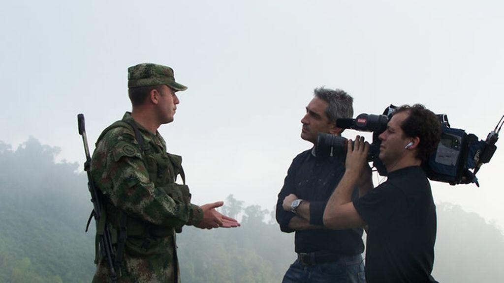 Jon Sistiaga, con la compaía de Jungla del ejército