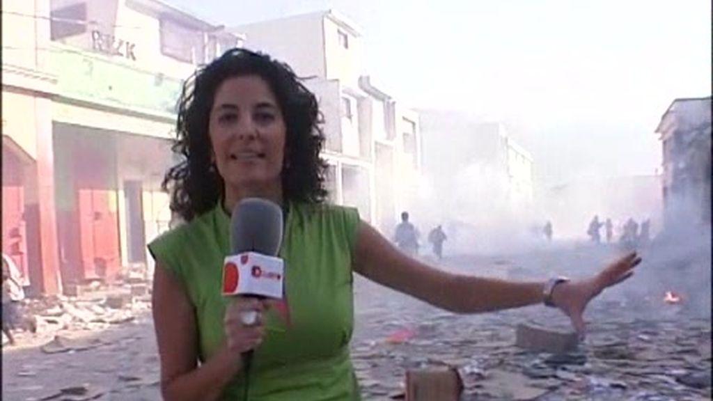 Cuatro/CNN+ en Haití: Testigos de un batalla por la comida