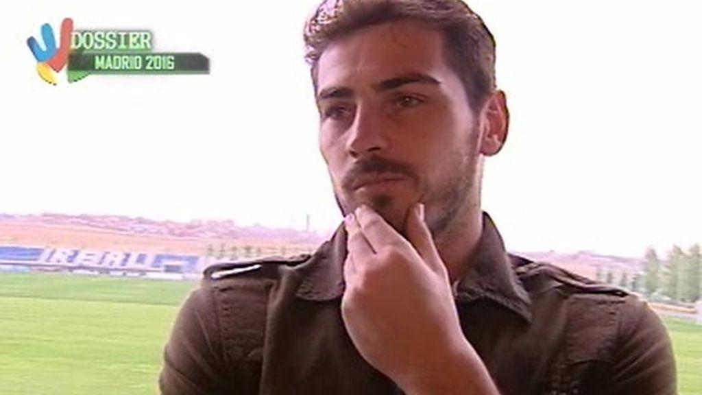 Iker Casillas apoya la candidatura de Madrid 2016