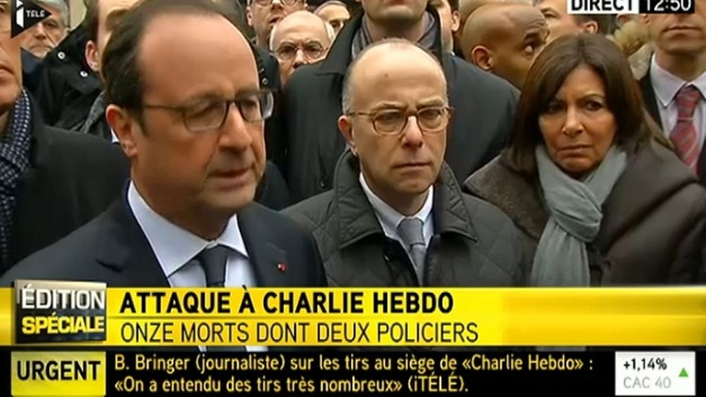 François Hollande y Anne Hidalgo visitan el lugar de los hechos