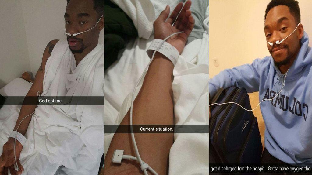 Estudiante de medicina utiliza auriculares para librarse de un examen