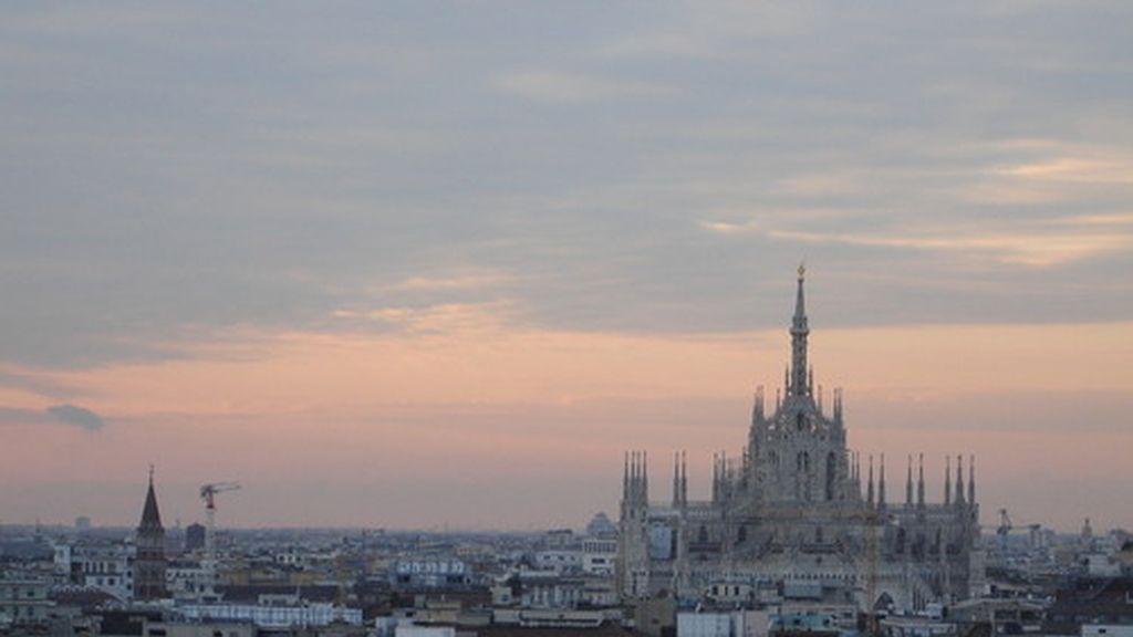 Vista aérea de Milán (Italia)