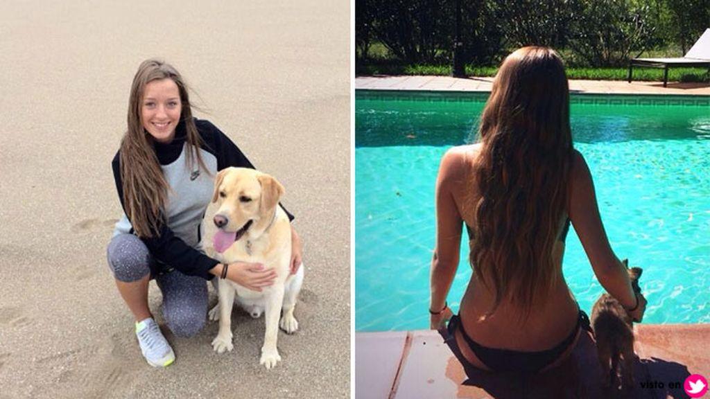 Es muy 'perruna' y suele compartir fotos junto a los dos canes de la pareja