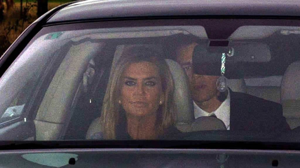 Susana Urribarri llega a la boda de Julio Iglesias junior