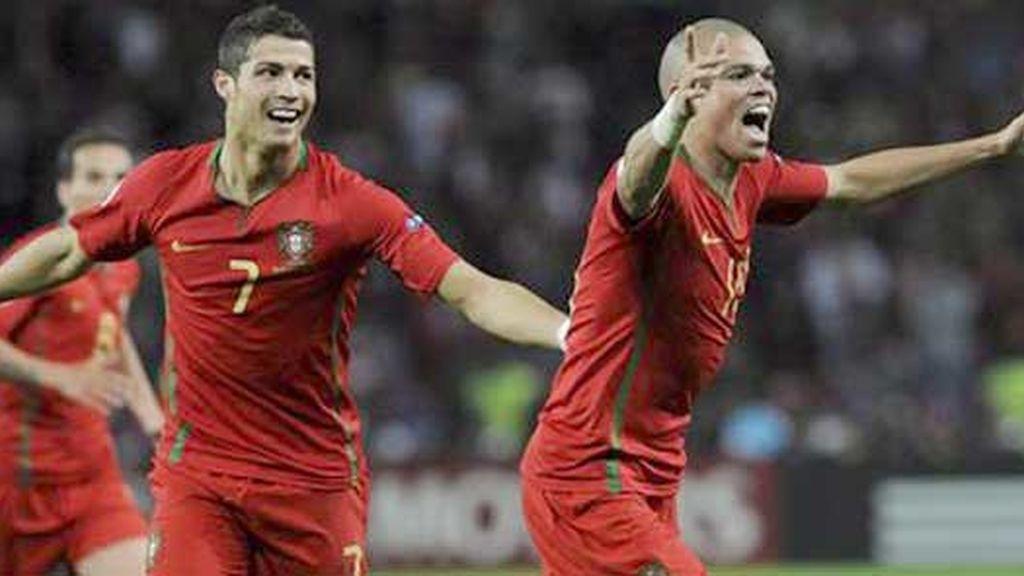 Pepe celebra el primer tanto. Video: ATLAS