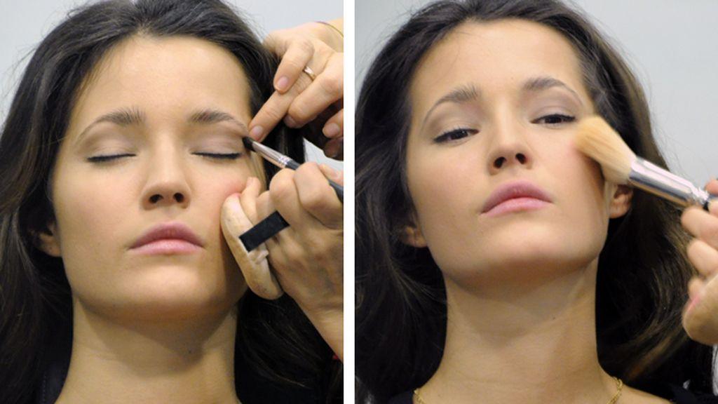 Malena escogió un maquillaje en tonos suaves