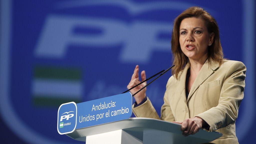 """Cospedal aconseja a Moreno que nada le """"desoriente"""" de lograr el cambio político en Andalucía"""
