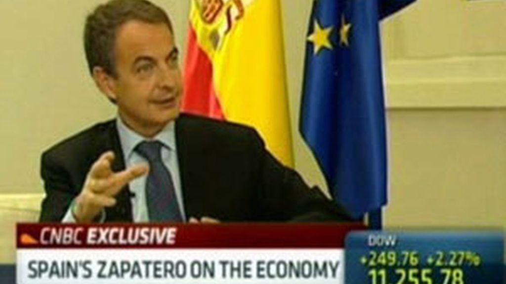 Zapatero en una entrevista a la CNBC